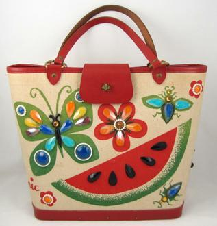 Red Watermelon Butterfly Bag