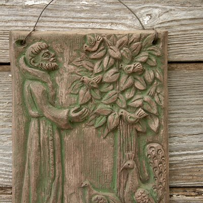 Ceramic St. Francis Relief front