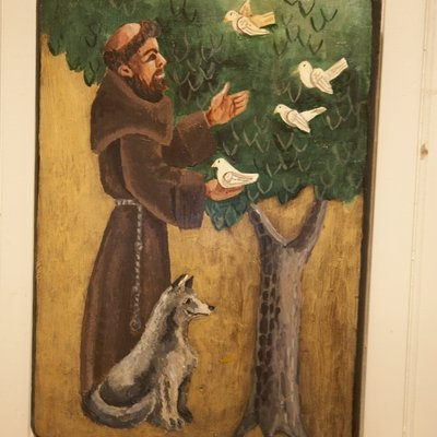 St. Francis + the Wolf  front view