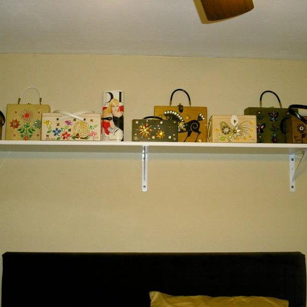 Master bedroom Enid shelf!! I hope Enid herself would be proud!!