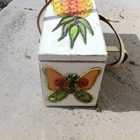 Pineapple Wooden Box Purse Enid Collins Pineapple Box Bag